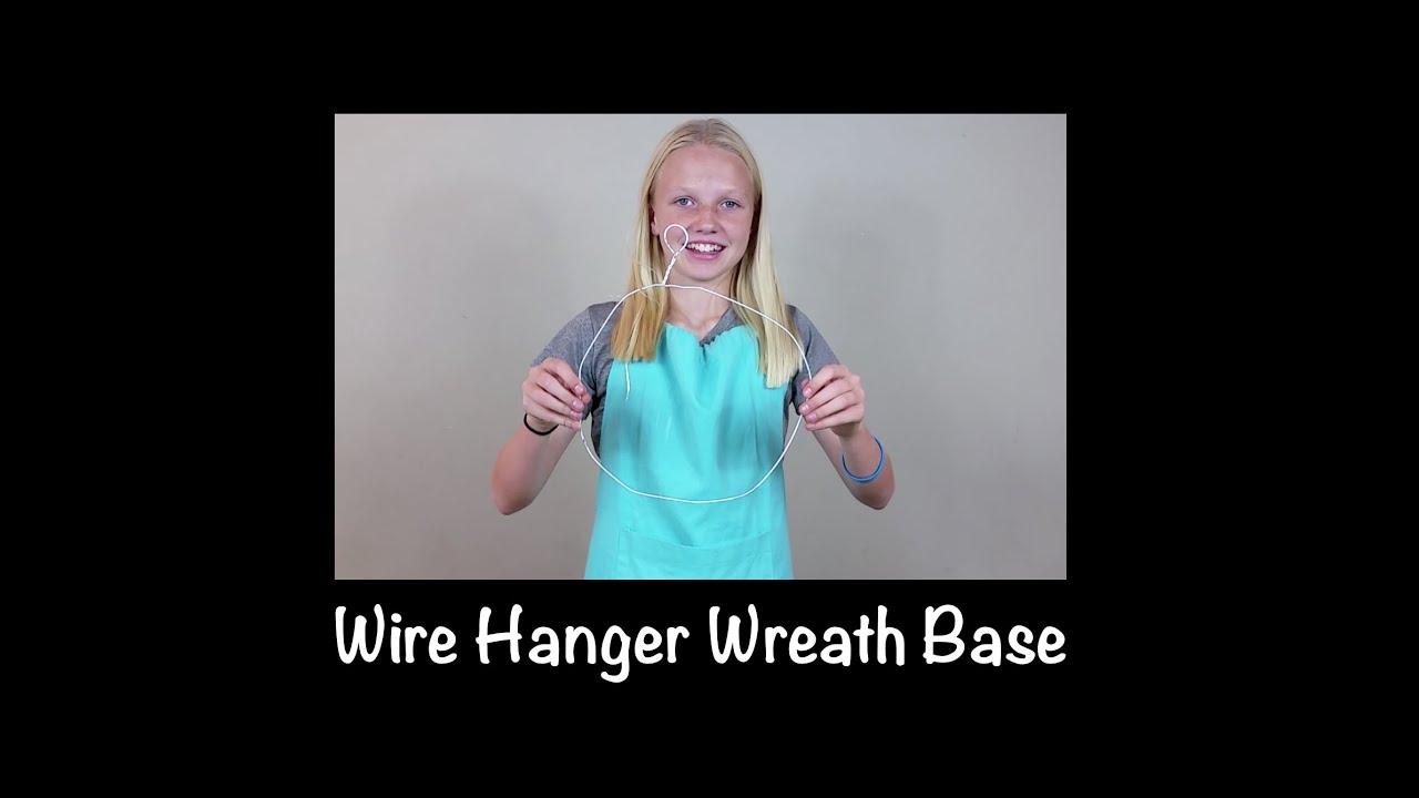 Wire Hanger Wreath Base - YouTube