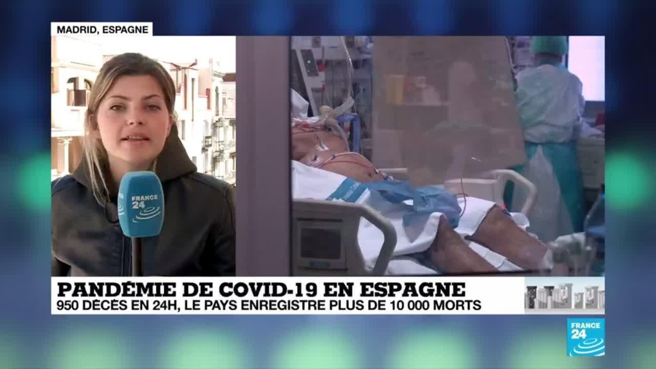 Coronavirus : 950 décès en 24 heures, l'Espagne enregistre plus de 10 000 morts