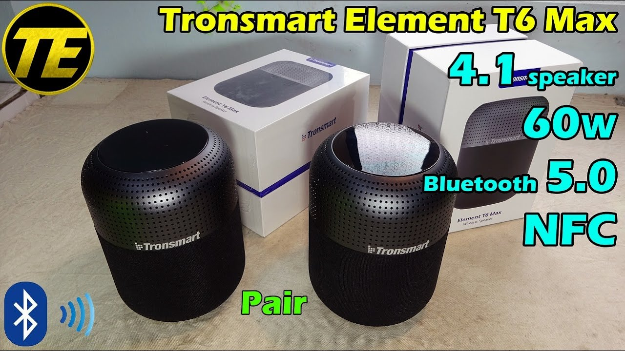 Tronsmart Element T6 Max 60W Bluetooth Speaker Unboxing