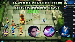 HANABI PERFECT ITEM - TOP GLOBAL MAGIC CHESS PLAYER | Mobile Legends Bang Bang