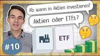 Aktien oder ETF? Ab wann in Aktien Investieren? | #FragFinanzfluss