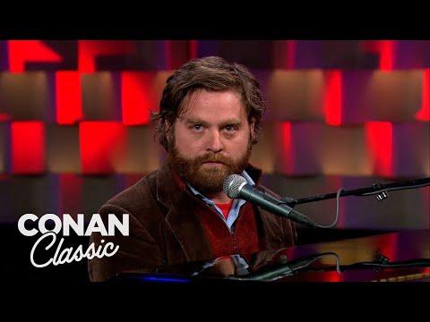 Zach Galifianakis Stand-Up   Late Night with Conan O'Brien