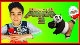 3 Oeufs Kinder Surprise Kung Fu Panda 3 jouets - Unboxing kinder surprise eggs Kung fu Panda 3