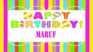 Maruf   Wishes & Mensajes - Happy Birthday