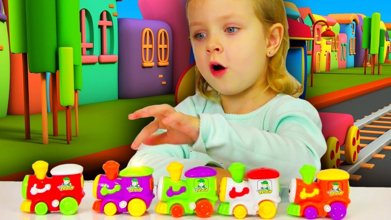 Colors for Children Learn with Toy Trains Color Video Collection ...
