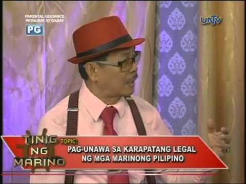 Pag-unawa sa karapatang legal ng marinong Pilipino