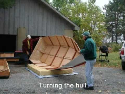 Construction of a Center-Console Wooden-Skiff - YouTube
