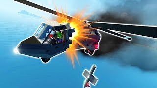 HELICOPTER SPLITS IN HALF MID FLIGHT - Stormworks: Build and Rescue Gameplay Roleplay