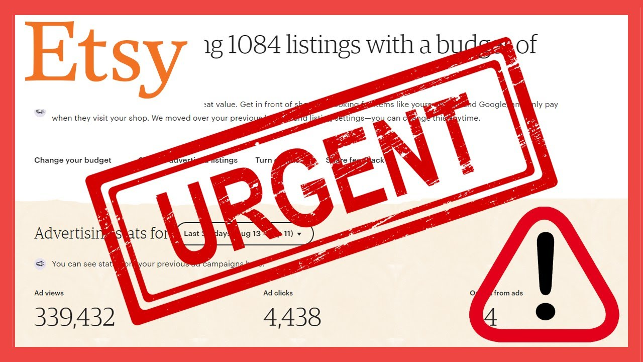 URGENT: If You Sell On Etsy & Use Promoted Listings, Check Your Advertising Campaigns!