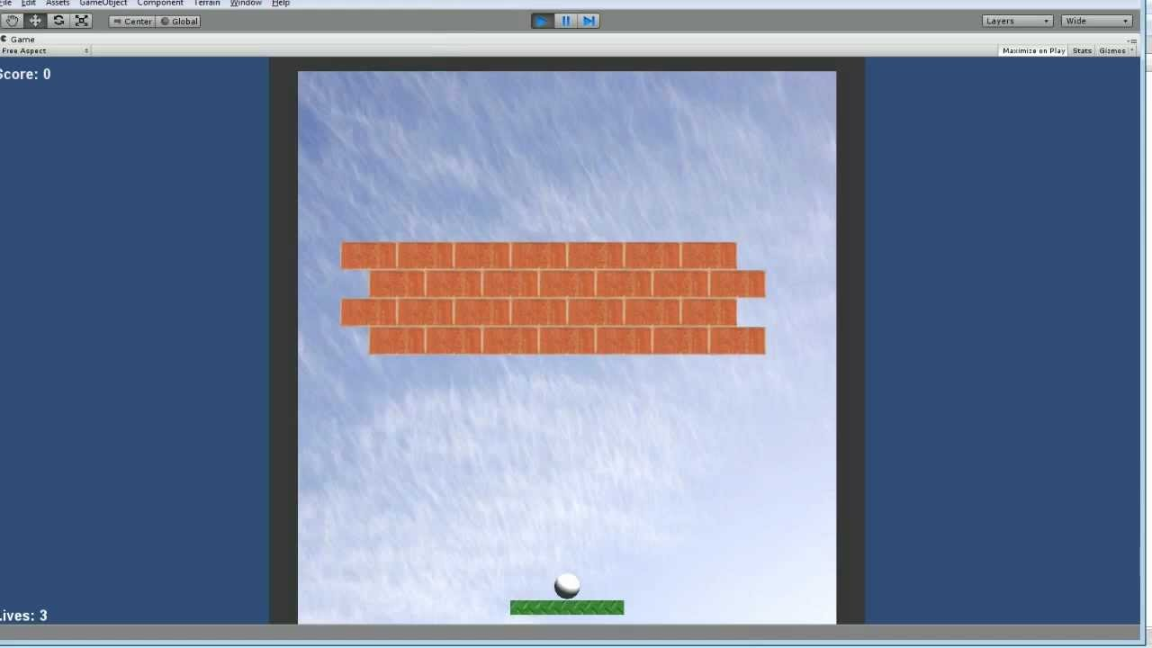 Unity 3d Tutorial #1 2d Brick Game