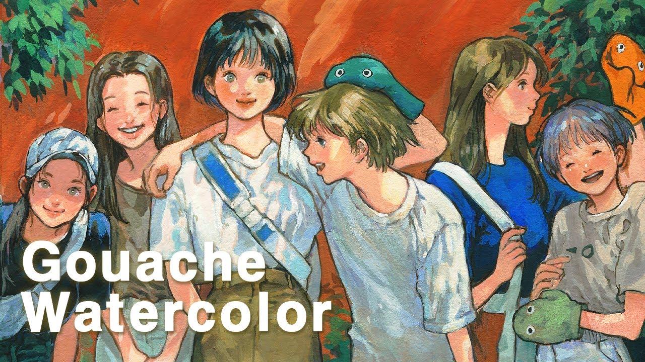 쨍한 추억 | 수채 과슈 일러스트 Watercolor , Gouache