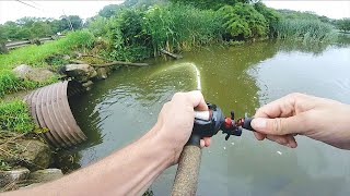 Catching Bass in a Culvert Pipe!