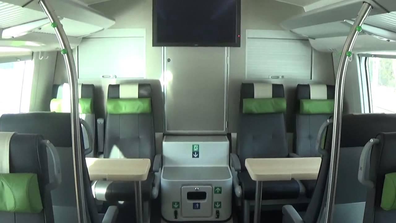 inside finnish duetto plus double decker restaurant car youtube. Black Bedroom Furniture Sets. Home Design Ideas
