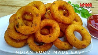 Recipe of Crispy Rings Snacks in Hindi by Indian Food Made Easy