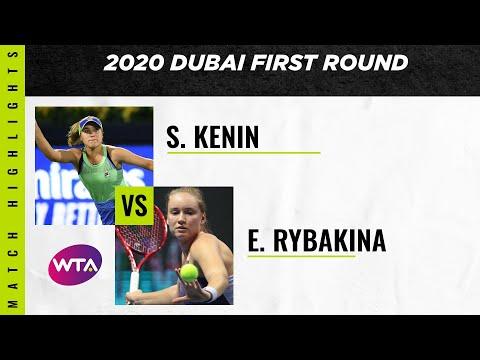 Sofia Kenin Vs. Elena Rybakina   2020 Dubai First Round   WTA Highlights