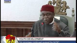 Youth Development:Orji promises continued suport for NYSC