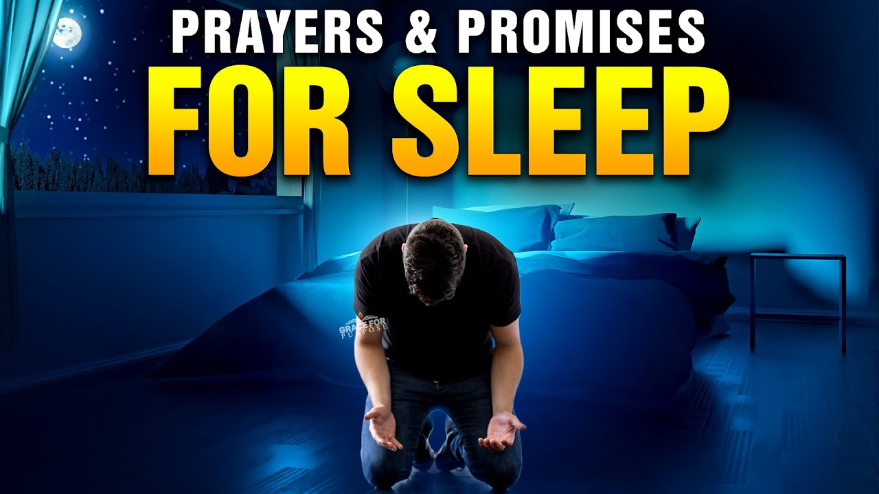 God's Promises and Beautiful Bedtime Prayers For Sleep | Blessed Bible Sleep Talk Down and Pray