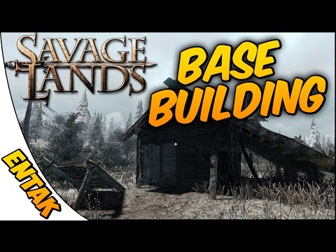 Savage Lands Gameplay ➤ Base Building & The Terror Of Night Time [Ep. 3]