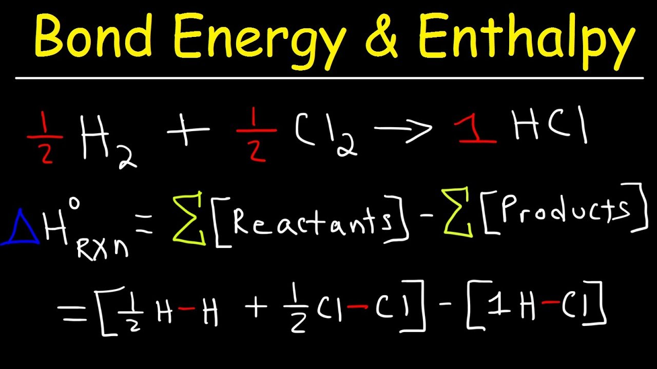 bond energy calculations enthalpy change problems basic introduction chemistry [ 1280 x 720 Pixel ]