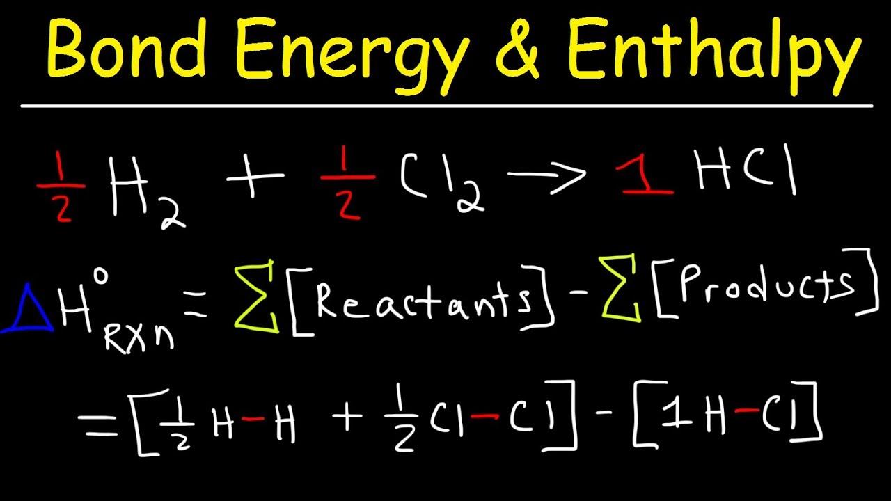bond energy calculations enthalpy
