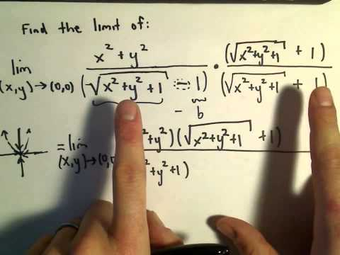 Multivariable Calculus - Showing a Limit DOES Exist Using Algebra (Conjugate)
