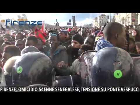 Firenze, omicidio 54enne senegalese. Alta tensione a corteo su Ponte Vespucci