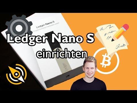 Ledger Nano S EINRICHTEN   Wie man das Wallet startet und auf seine Coins zugreift