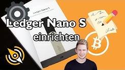 Ledger Nano S EINRICHTEN | Wie man das Wallet startet und auf seine Coins zugreift