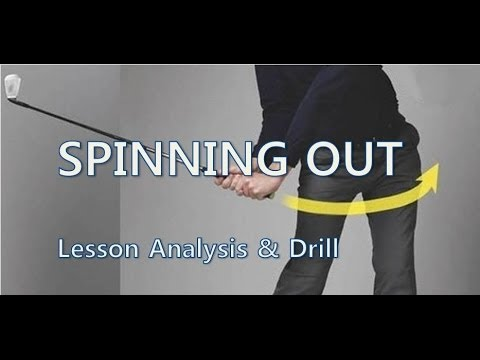 Golf Lesson Analysis - Spinning Out Downswing (Fast Hips)