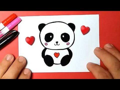 Como Desenhar Urso Panda Fofo E Facil Kawaii Desenhos Bonitos