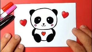 HOW TO DRAW BEAR PANDA FOUND AND EASY / BEAUTIFUL DRAWINGS - Drawing to Draw
