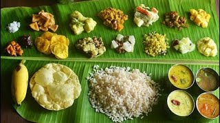 Onam sadya full preparation from pickle to payasam| How to make sadhya|sadhya full recipes