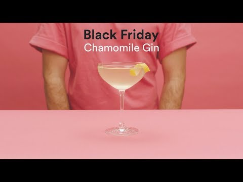 Black Friday Chamomile Gin Cocktail