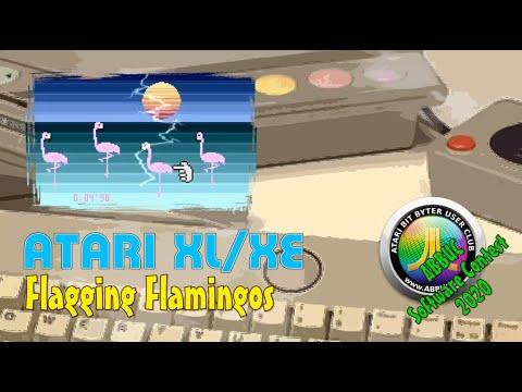 Atari XL/XE -=Flagging Flamingos=- ABBUC Software Contest 2020