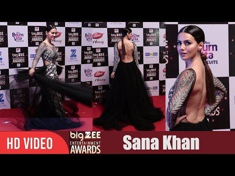 Sana Khan at Big Zee Entertainment Awards