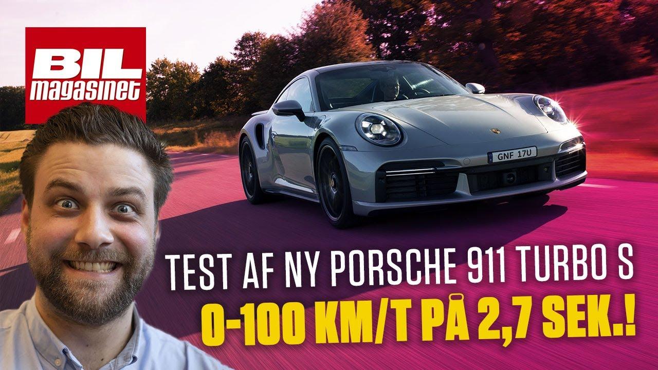 100 km/t på 2,7 sek! NY Porsche 911 Turbo S er CRAZY hurtig