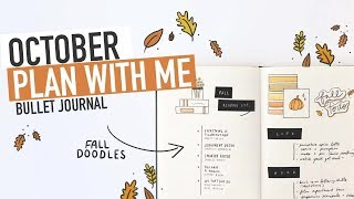 Bullet Journal OCTOBER PLAN WITH ME 2019 | fall doodles + project planner