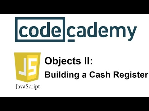 Learn JavaScript with Codecademy: Building a Cash Register