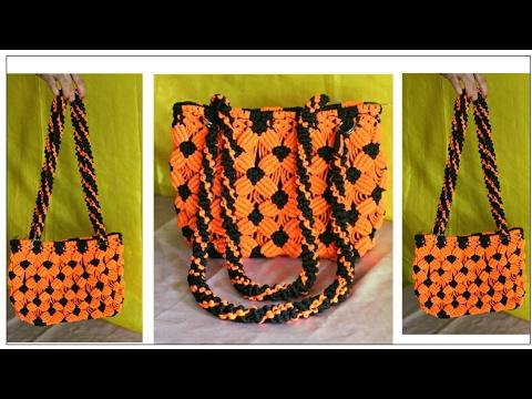 Easy & Simple Macrame Bag Tutorial Purse | Design #2 watch full video HD Tutorial