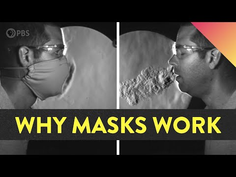 Video image: How well do masks work?