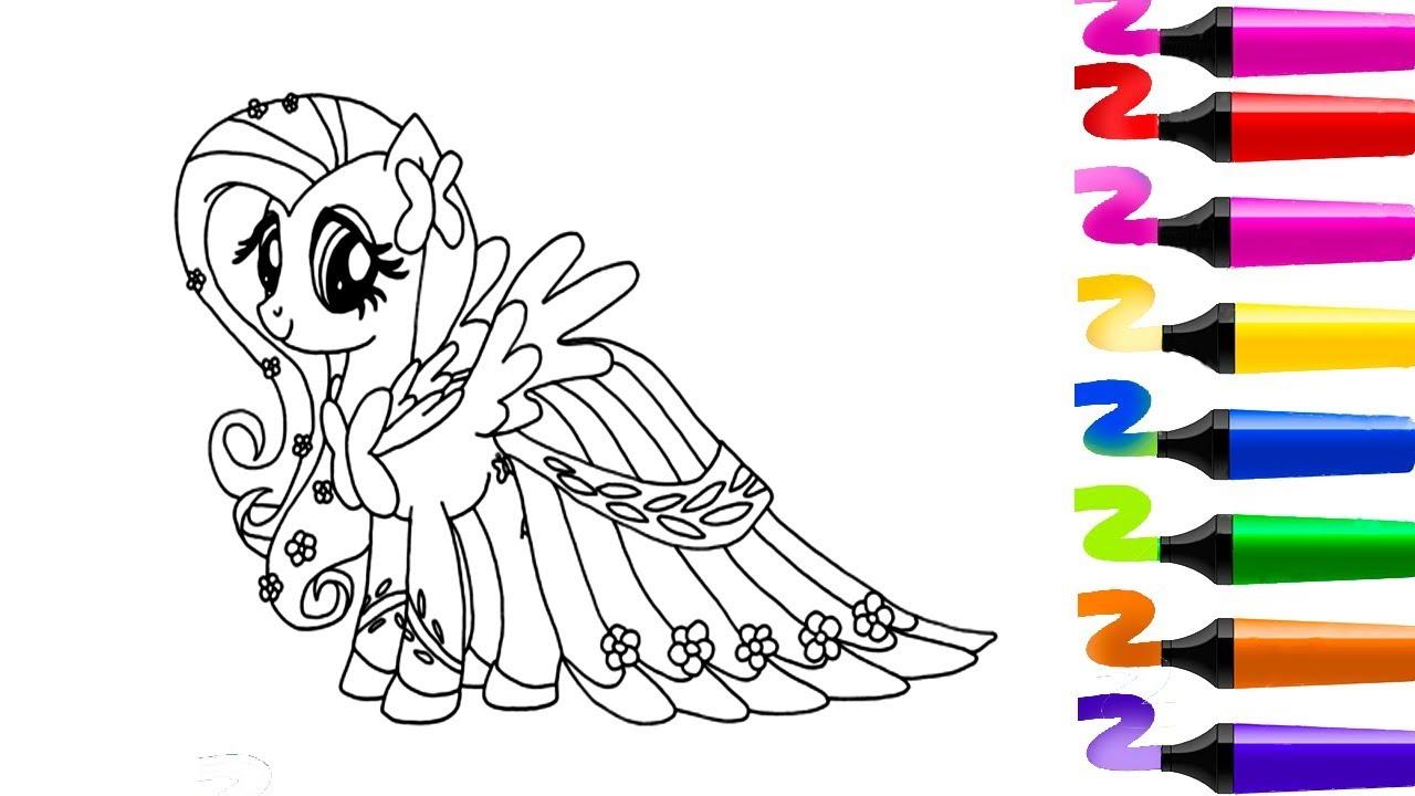 Coloriage Bebe Poney.Coloriage Pour Enfants My Little Pony Livre A Colorier Apprendre A