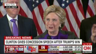 Hillary Clinton - Concession Speech - US Presidential Election 2016