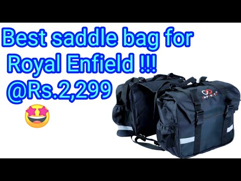 BEST SADDLE BAG FOR CRUISER BIKES || INFINITI SADDLE BAG FOR ROYAL ENFIELD/BAJAJ AVENGER