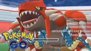 WHY I'M CATCHING GROUDON 100X! - Pokémon GO Groudon Battle & Encounter Gameplay