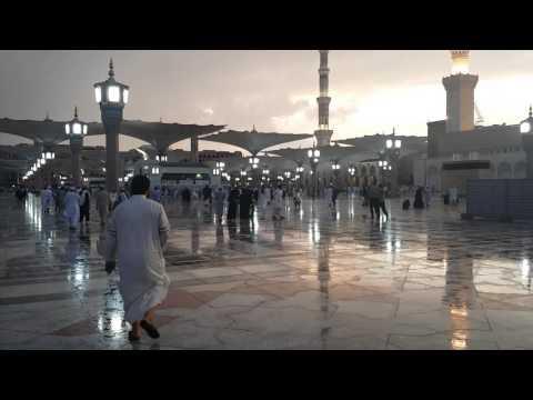 Rain in Madinah April 3rd 2016 Part 2