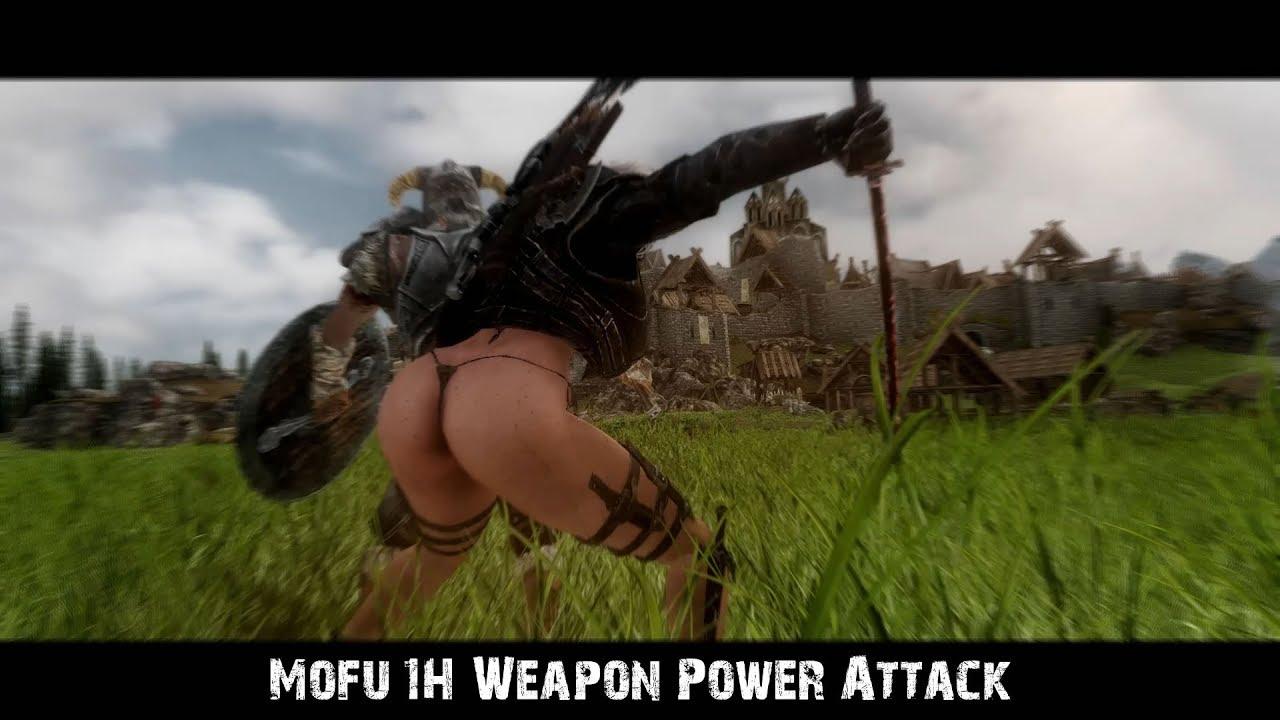 Skyrim Mofu 1H Weapon Power Attack v 1 4 [Demostración]