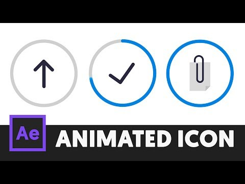 Animated Icon #2 - After Effects Tutorial (No Third Party Plugin) - T050