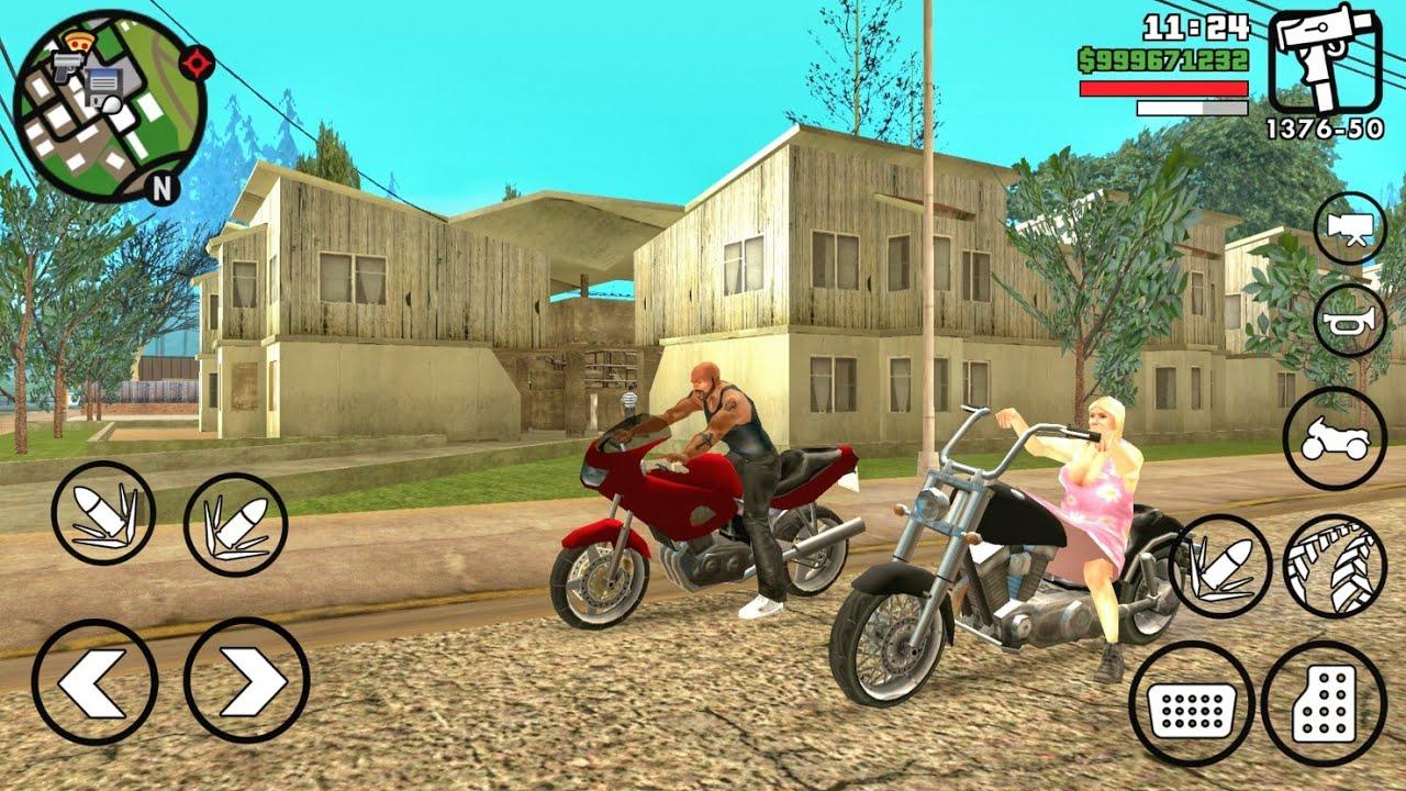 جولة في المدينة الريفية في لعبة درايفر للموبايل GTA SA
