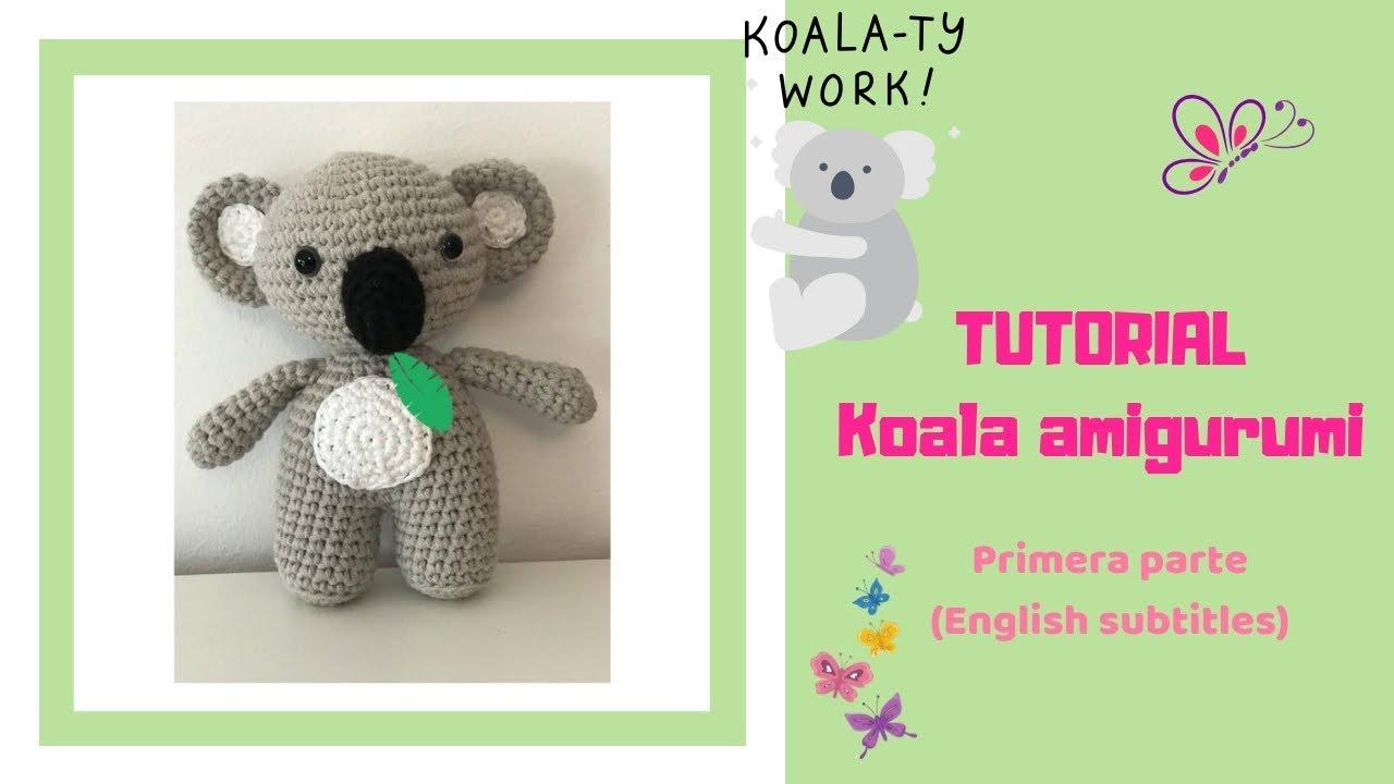 Tutorial Koala amigurumi, parte 1 (English subtitles) - YouTube