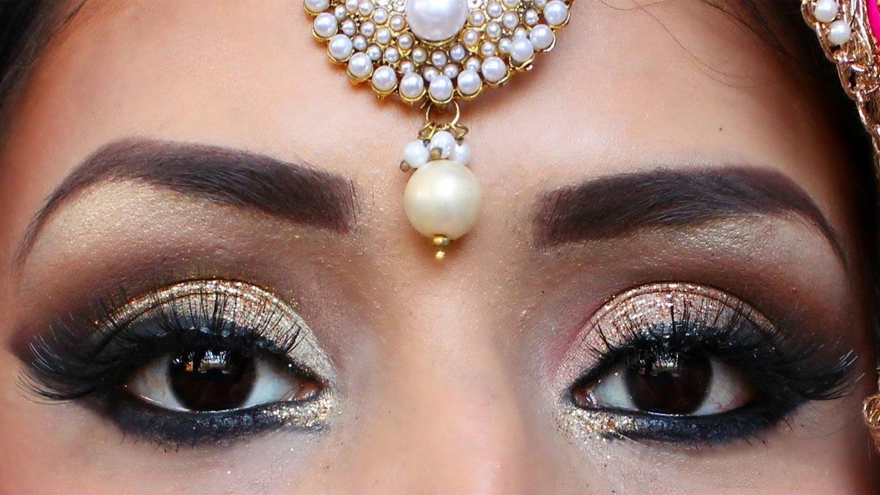 Indian Bridal Makeup | Indian/Bollywood/South Asian Bridal Smokey Eye Makeup Tutorial Step By ...